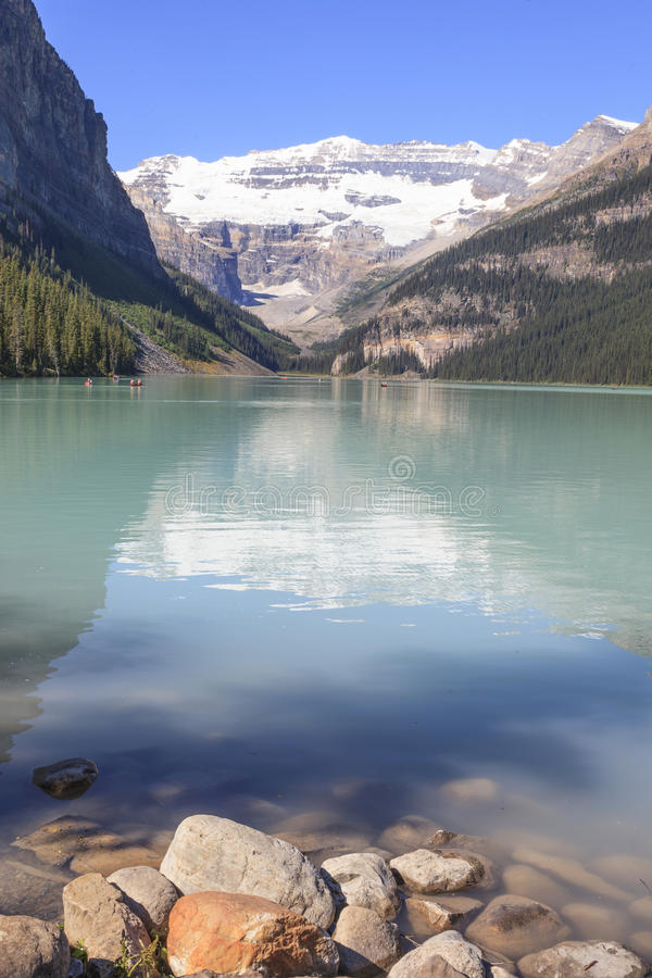 Lake Louise. In Rocky mountain Canada royalty free stock images