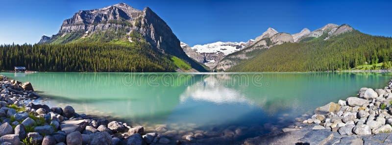 Lake Louise scenico immagini stock libere da diritti