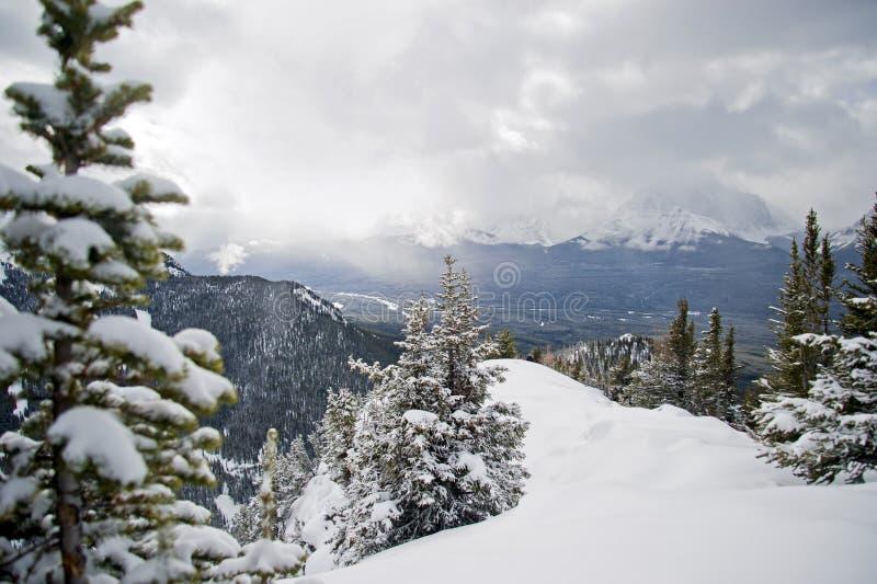 Lake Louise Ski Resort. Alberta royalty free stock photos