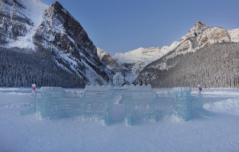 Lake Louise in Winter stock images