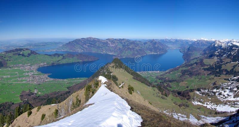 Lake Lucerne royaltyfria bilder