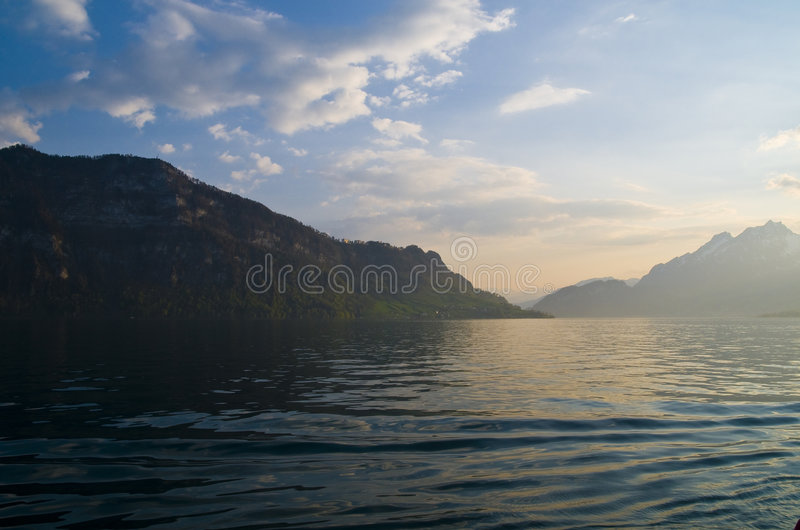 Lake Lucerne Scenic Stock Images