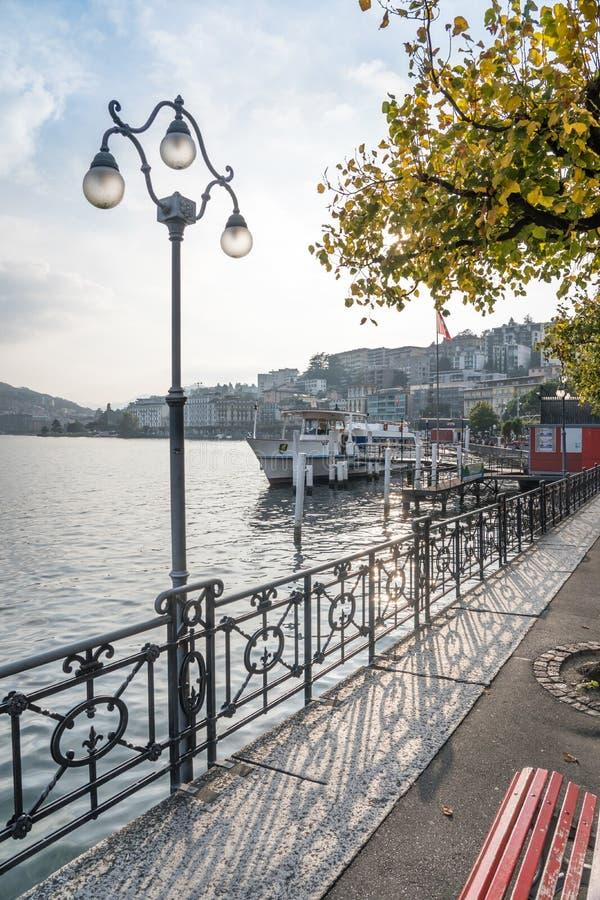 Lake Lugano, Switzerland royalty free stock photography