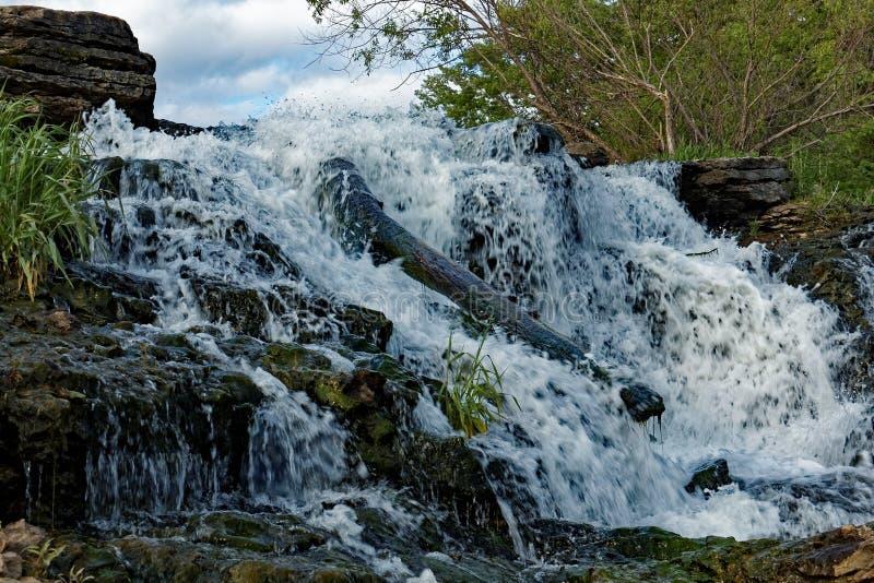Lake MacBride Waterfall stock image