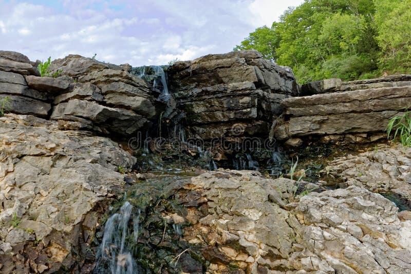 Lake MacBride Waterfall royalty free stock photography