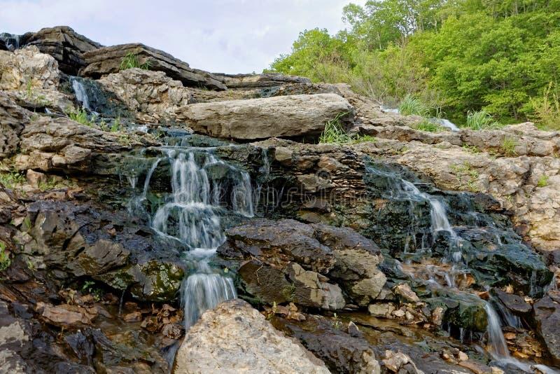 Lake MacBride Waterfall stock photo