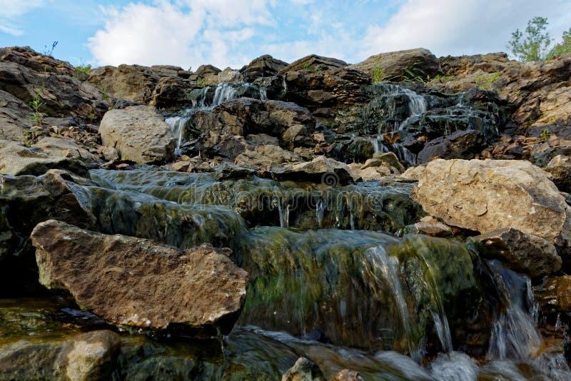 Lake MacBride Waterfall royalty free stock photos