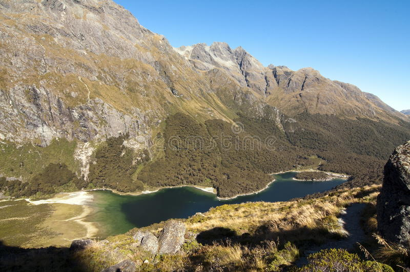 Lake Mackenzie - Routeburn Track stock photography