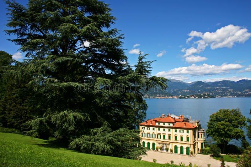 Lake maggiore. Villa Pallavicino - lake maggiore italy royalty free stock image