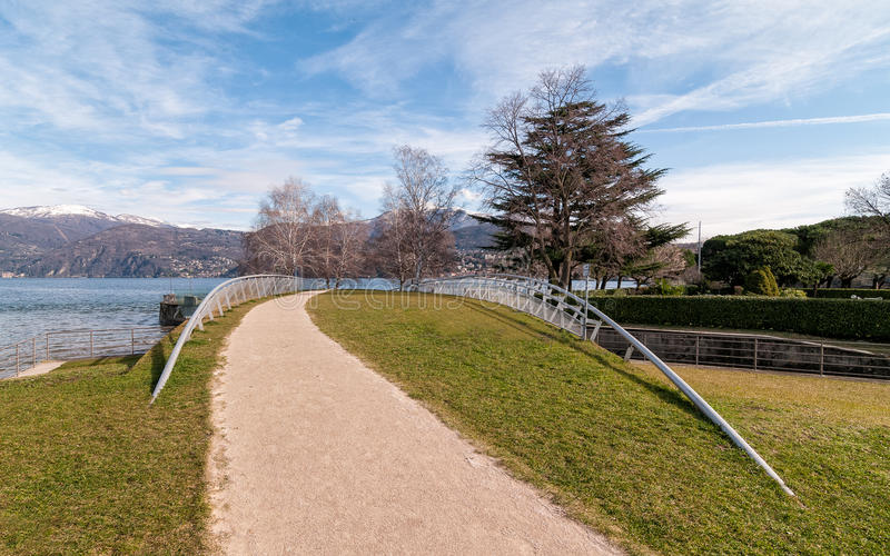 Lake Maggiore from Germignaga royalty free stock images