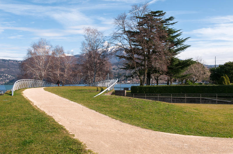 Lake Maggiore from Germignaga stock images