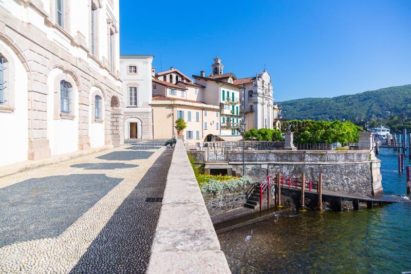 Lake Maggiore, Island Bella, Borromeo Palace; Stresa italy. Landscape with island Bella, on lake Maggiore, Stresa, Italy royalty free stock photography