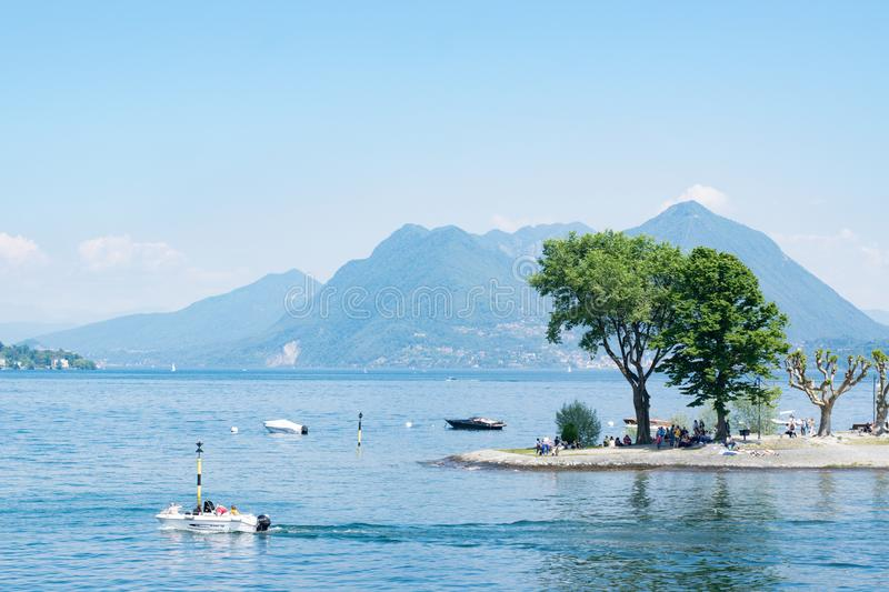 Lake Maggiore royalty free stock image