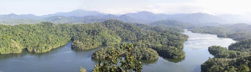 Lake in Malaysia. Rainforest Bukit Tabur royalty free stock images