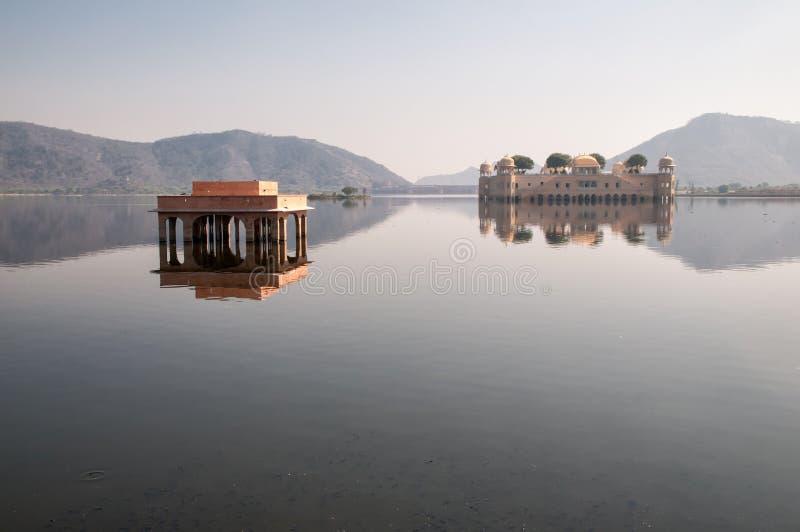 Lake Man Sagar and Jal Mahal, Jaipur stock photo