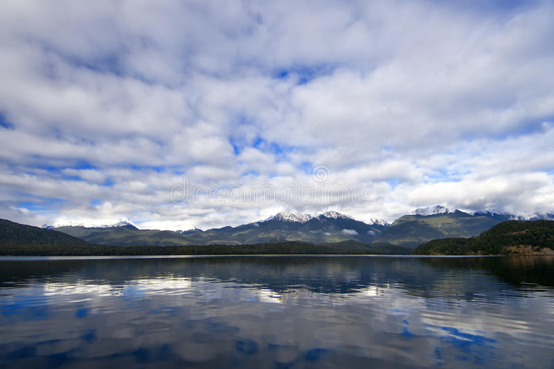 Download Lake Manapouri stock image. Image of manapouri, postcard - 15916753
