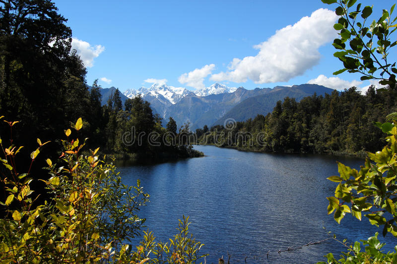 Lake Matheson Mt Cook stock images