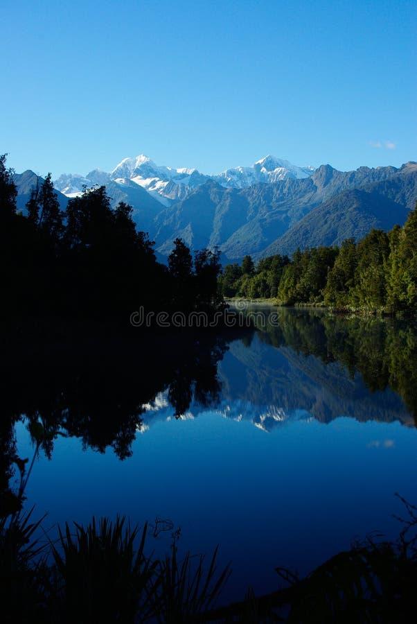 Lake Matheson (portrait) stock image