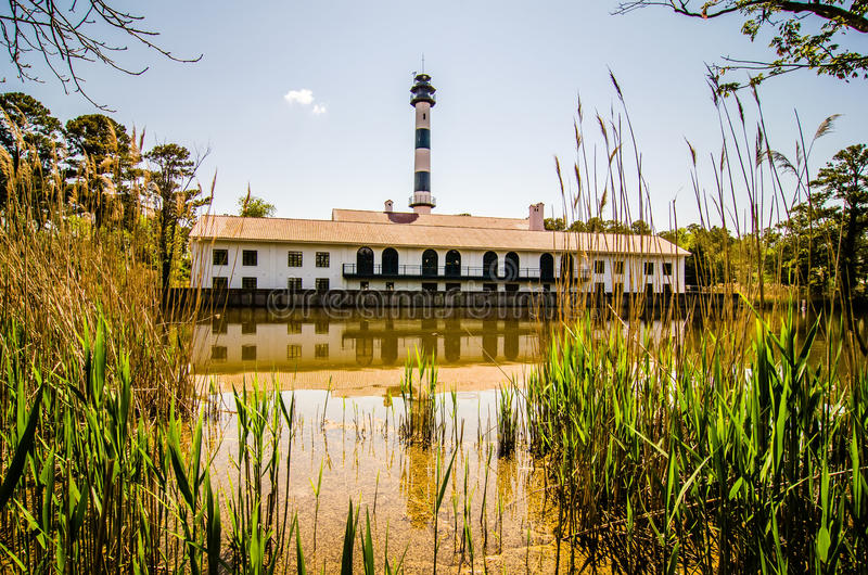 Lake mattamuskeet lighthouse stock image