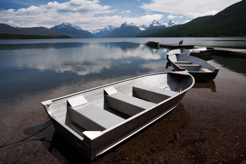 lake mcdonald arkivfoto