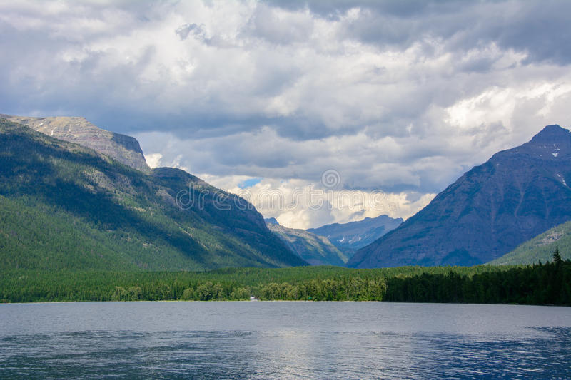 Lake McDonald in Glacier National Park, Montana stock photography