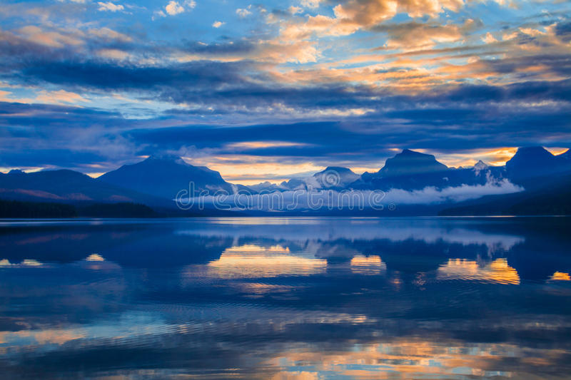 Lake McDonald in Glacier National Park, Montana, USA stock photos