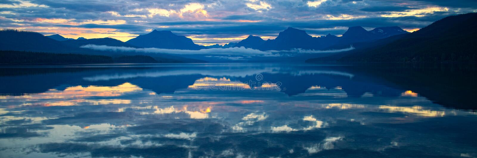 Lake McDonald in Glacier National Park, Montana, USA royalty free stock photos