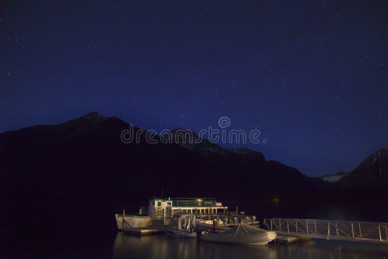 Lake McDonald Night Stars Glacier National Park