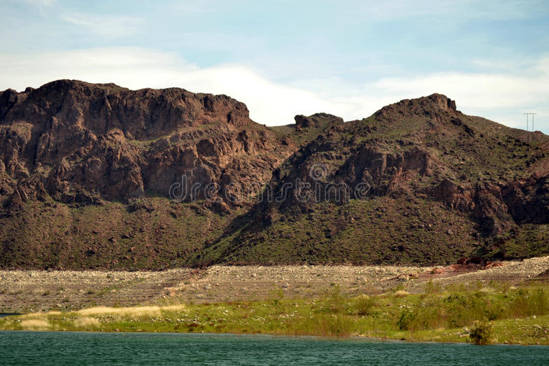 Lake Meade. View from pier leading to Marina on Lake Meade stock images