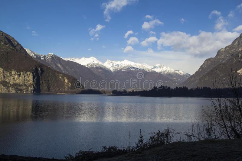 Lake of mezzola royalty free stock photography