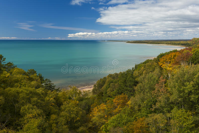 Lake Michigan Autumn. A Lake Michigan scenic during autumn royalty free stock photos