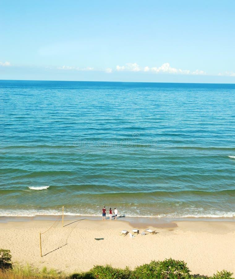Download Lake Michigan Beach In The Sum Stock Photo - Image: 3068280