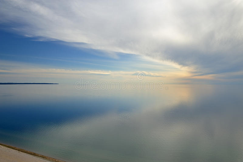 Lake Michigan and Clouds. Landscape of Lake Michigan and clouds, Sleeping Bear Dunes National Lakeshore, Michigan, USA royalty free stock images
