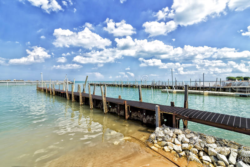 Lake Michigan. Docks on a sunny day, Chicago Illinois royalty free stock image