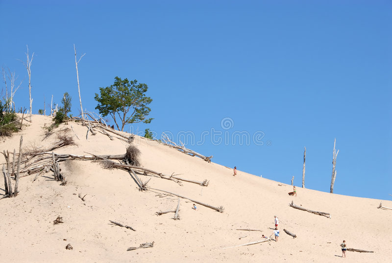 Lake Michigan Dunes stock photography