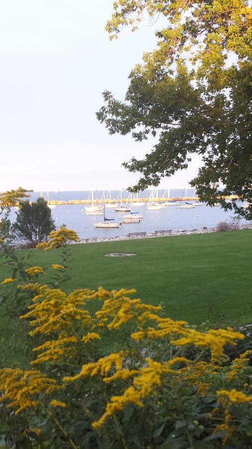 Lake Michigan Harbor stock photos