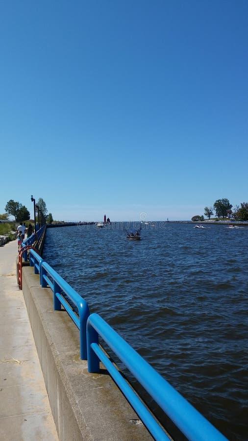 Lake Michigan kanal arkivbild