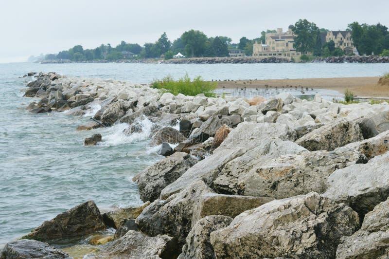 Lake Michigan, Kenosha, Wisconsin stock photo