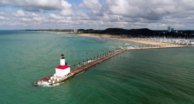 Lake Michigan Lighthouse, Indiana royalty free stock photography