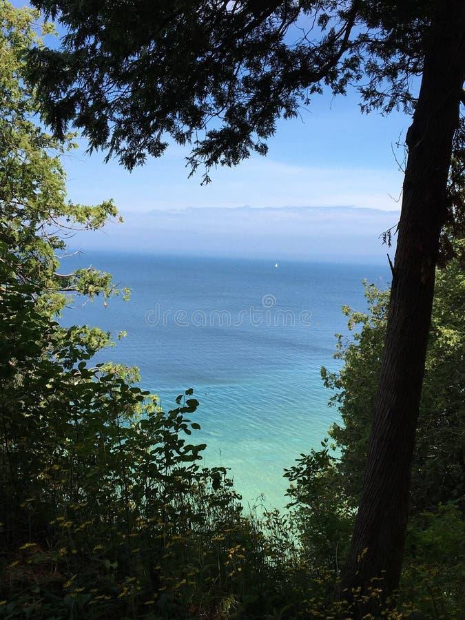 Lake Michigan Lookout imagens de stock royalty free