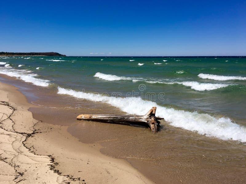 Lake Michigan near sova björndyn royaltyfri foto