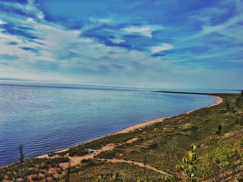 Lake Michigan på port Sheldon royaltyfri bild
