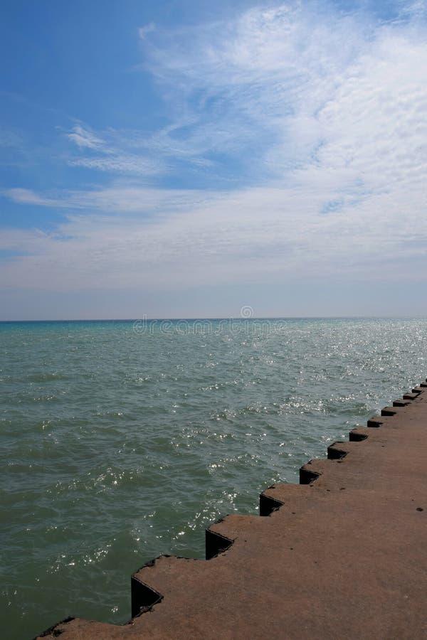 Lake Michigan pir royaltyfria foton