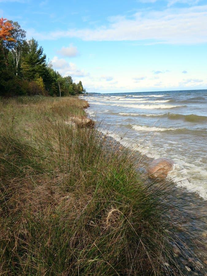 Lake Michigan Shoreline royaltyfria foton