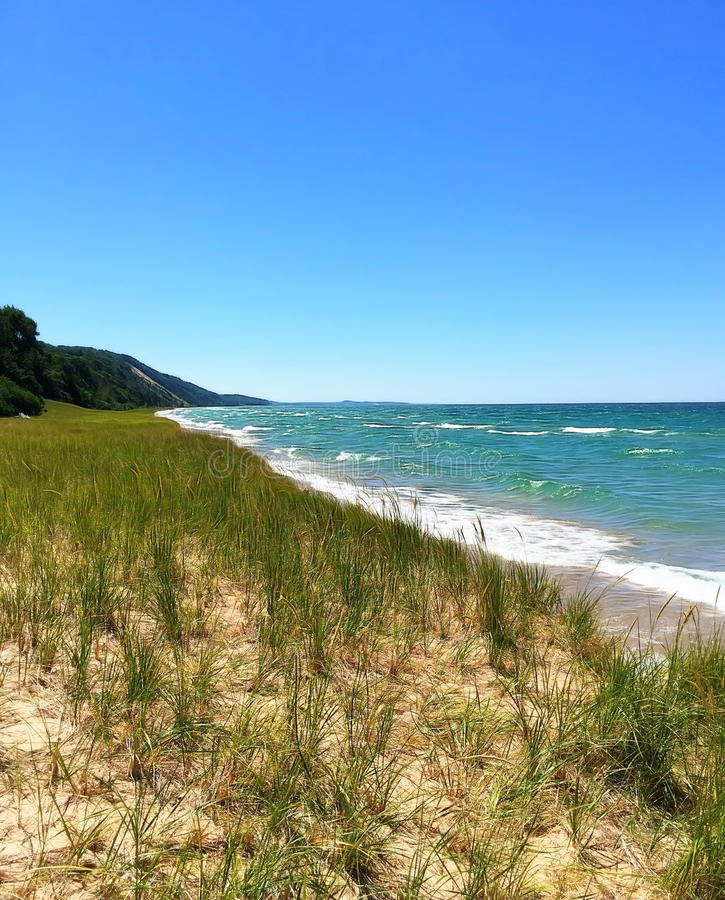 Lake Michigan Shoreline royaltyfri bild