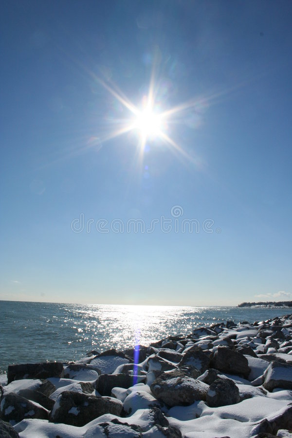Download Lake Michigan in Winter stock photo. Image of water, coastline - 2721530