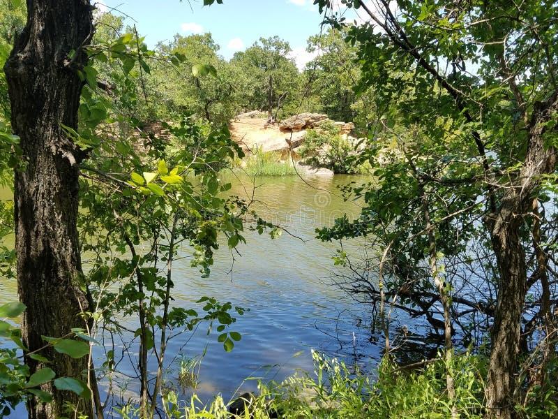 Lake Mineral Wells Fishing Hole royalty free stock photo