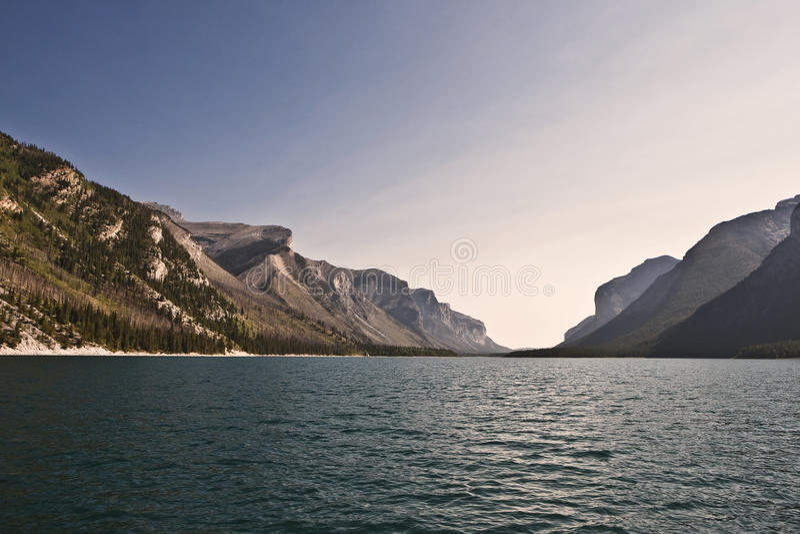 Lake Minnewanka. Banff National Park - Alberta - Canada royalty free stock photo