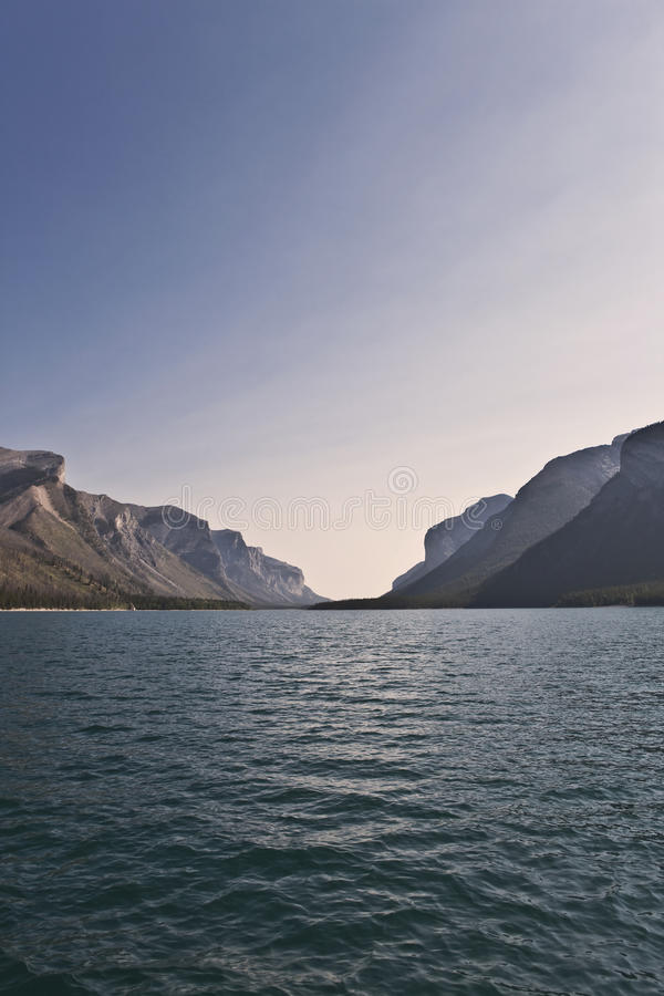 Lake Minnewanka. Banff National Park - Alberta - Canada stock images