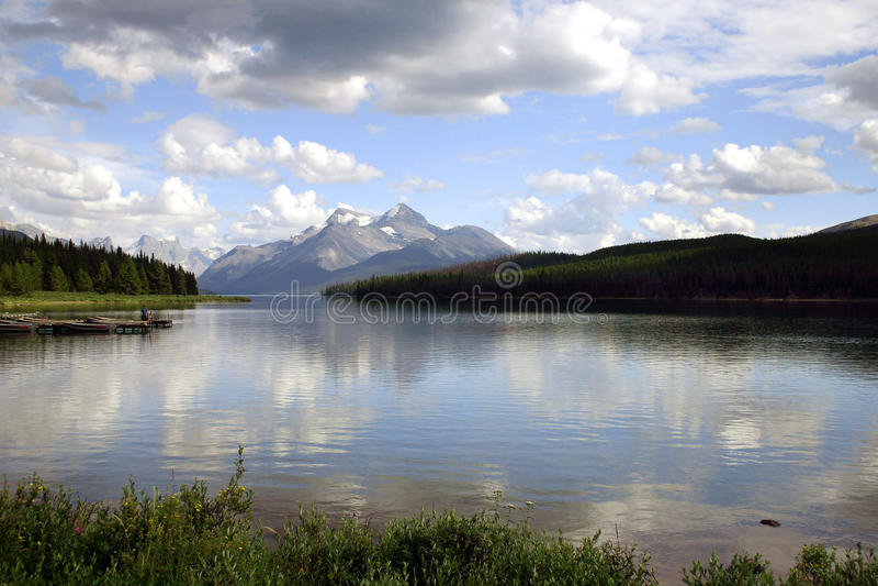 Lake minnewanka. In Banff national park, Canada royalty free stock photography